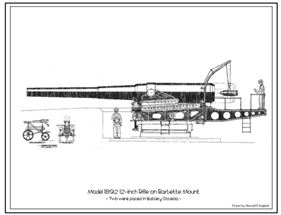Lithograph 1003 - 12-inch Barbette Rifle